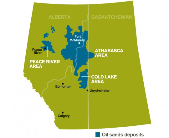 Alberta's oil sands region